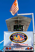 """Shelter atop a """"sport bus"""" from Texas at the 2012 Reno Air Races."""