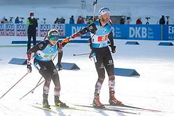 Hauser Lisa Theresa of Austria and Eder Simon of Austria compete during the IBU World Championships Biathlon Single Mixed Relay competition on February 18, 2021 in Pokljuka, Slovenia. Photo by Vid Ponikvar / Sportida