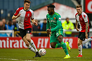 Watford forward Isaac Success (10) on the ball during the The FA Cup 3rd round match between Woking and Watford at the Kingfield Stadium, Woking, United Kingdom on 6 January 2019.