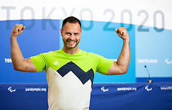 TOKYO, JAPAN --AUGUST 26: Dejan Fabcic of Team Slovenia posing during photo session at Paralympic village on day 2 of the Tokyo 2020 Paralympic Games on August 26, 2021 in Tokyo, Japan. Photo by Vid Ponikvar / Sportida