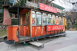 Train Car Food Stand