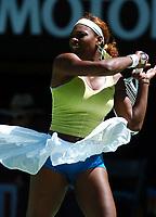 MELBOURNE AUSTRALIAN OPEN   17/01/05<br />SERENA WILLIAMS (USA) DURING FIRST ROUND WIN<br />Photo Roger Parker  Fotosports International