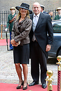 Prinsjesdag 2013 - Aankomst Parlementariërs bij de Ridderzaal op het Binnenhof.<br /> <br /> Op de foto:  Fred Teeven - Staatssecretaris van Veiligheid en Justitie en partner