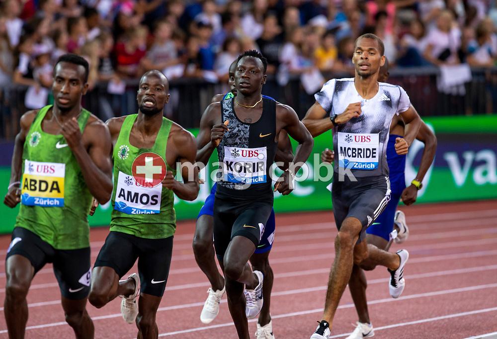 Men's 800m during the Iaaf Diamond League meeting (Weltklasse Zuerich) at the Letzigrund Stadium in Zurich, Switzerland, Thursday, Aug. 29, 2019. (Photo by Patrick B. Kraemer / MAGICPBK)