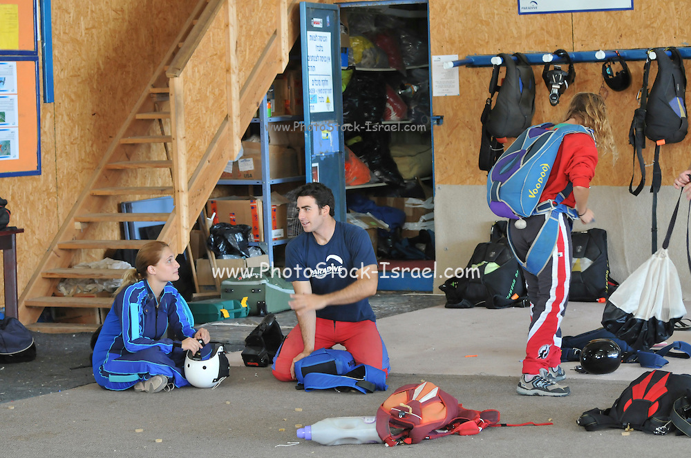 Israel, Habonim Skydive centre Pre-jump preparation and briefing