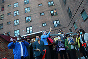 BROOKLYN, NEW YORK: NOVEMBER 6, 2020- New York City Mayor Bill De Blasio, along with New York City Council Member Robert Cornergy, U.S. Congress Nydia Velázquez, Tahirah Moore, Actor Tracey Morgan and others attend the official ribbon cutting ceremony opening the new New York City Housing Authority (NYCHA) Marcy Houses Community Center on November 6, 2020 in the Bedford Stuyvesant section of Brooklyn, New York City.   Photo by Terrence Jennings/terrencejennings.com