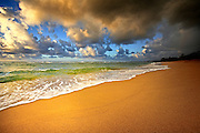 Colorful Lydgate Beach Kauai with Clouds