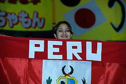 07-11-2010 VOLLEYBAL: WORLD CHAMPIONSHIP: PERU - KOREA: TOKYO<br /> Korea beat Peru with 3-1 / Support Peru<br /> ©2010-WWW.FOTOHOOGENDOORN.NL