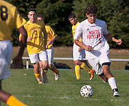 Thiells, New York -Spring Valley plays North Rockland in a varsity boys' soccer game on Sept. 18, 2014.