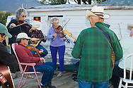 Montana Old Time Fiddlers Picnic, Livingston Montana, banjo and fiddle