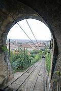 funicular railway in Bergamo, Italy
