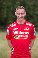 20150626 - OOSTENDE, BELGIUM: Oostende's Niels de Schutter pictured during the 2015-2016 season photo shoot of Belgian first league soccer team KV Oostende, Friday 26 June 2015 in Oostende. BELGA PHOTO KURT DESPLENTER