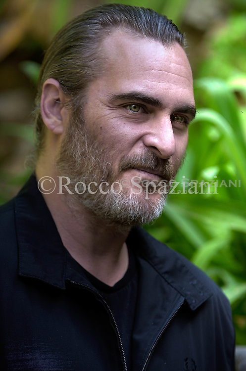 Actor Joaquin Phoenix attends 'A Beautiful Day' photocall at Hotel De Russie on April 27, 2018 in Rome, Italy