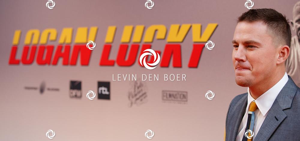 AMSTERDAM - In Theater Tuschinski is de première van Logan Lucky. Met hier op de foto Channing Matthew Tatum. FOTO LEVIN & PAULA PHOTOGRAPHY VOF