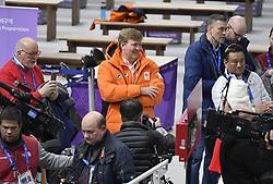 12-02-2018 SCHAATSEN: OLYMPISCHE SPELEN: OLYMPIC GAMES: PYEONGCHANG 2018<br /> Koning Willem-Alexander is aanwezig bij de 1500 meter vrouwen<br /> <br /> Foto: Soenar Chamid