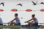 Caversham, Nr Reading, Berkshire.<br /> <br /> GBR W8+. left Frances HOUGHTON and Melanie WILSON,  Olympic Rowing Team Announcement morning training before the Press conference at the RRM. Henley.<br /> <br /> Thursday  09.06.2016<br /> <br /> [Mandatory Credit: Peter SPURRIER/Intersport Images] 09.06.2016,