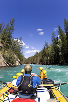 Whitewater rafting on the Chilko River. British Columbia, Canada.