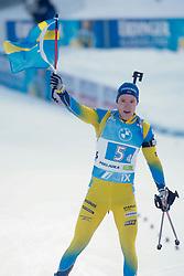 Samuelsson Sebastian of Sweden competes during the IBU World Championships Biathlon 4x7,5km Relay Men competition on February 20, 2021 in Pokljuka, Slovenia. Photo by Vid Ponikvar / Sportida