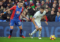 Football - 2016 / 2017 Premier League - Crystal Palace vs. Chelsea<br /> <br /> Diego Costa of Chelsea and Damien Delaney of Palace at Selhurst Park.<br /> <br /> COLORSPORT/ANDREW COWIE