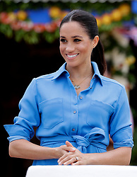The Duchess of Sussex during a visit to dedicate a forest reserve to the Queen's Commonwealth Canopy, at Tupou College on the second day of the royal couple's visit to Tonga.