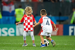 July 11, 2018 - Moscow, Russia - 180711 Kids of players from Croatia play on the pitch after the FIFA World Cup semi final match between Croatia and England on July 11, 2018 in Moscow..Photo: Petter Arvidson / BILDBYRÃ…N / kod PA / 92085 (Credit Image: © Petter Arvidson/Bildbyran via ZUMA Press)