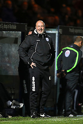 Rochdale Manager Keith Hill laughs  - Mandatory byline: Matt McNulty/JMP - 07966 386802 - 06/10/2015 - FOOTBALL - Spotland Stadium - Rochdale, England - Rochdale v Chesterfield - Johnstones Paint Trophy