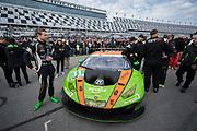 January 24-27, 2019. IMSA Weathertech Series ROLEX Daytona 24. #11 GRT Grasser Racing Team Lamborghini Huracan GT3, Orange 1 Racing, GTD: Rik Breukers