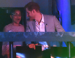 Prince Harry, Meghan Markle and Meghan's Mother Doria Radlan, attend The Invictus Games 2017 Closing Ceremony at the Air Canada Centre, Toronto, Ontario, Canada, on the 30th September 2017. 30 Sep 2017 Pictured: Doria Radlan, Prince Harry. Photo credit: James Whatling / MEGA TheMegaAgency.com +1 888 505 6342