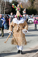 Masopust (Shrovetide Carnival) in the village of Vortová, near Hlinsko, Czech Republic (25 February 2017). The traditional Shrovetide carnival processions in Vortová and surrounding villages in the Hlinsko area are inscribed on the UNESCO list of Intangibe Cultural Heritage © Rudolf Abraham