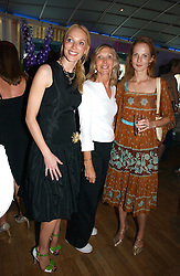 Left to right, TAMZIN GREENHILL, SUE GREENHILL and ARABELLA LOFTS at a party to celebrate the publication of 'How to Party' by Yasmin Mills with illustrations by Olympia Scarry, held at the Fifth Floor Restaurant, Harvey Nichols, Knightsbridge, London on 3rd July 2006.<br /><br />NON EXCLUSIVE - WORLD RIGHTS