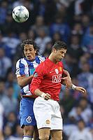 20090415: PORTO, PORTUGAL - FC Porto vs Manchester United: Champions League 2008/2009 Ð Quarter Finals Ð 2nd leg. In picture: Bruno Alves and Cristiano Ronaldo. PHOTO: Ricardo Estudante/CITYFILES