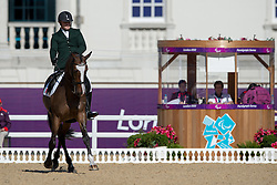 Dwyer James (IRL) - Orlando<br /> Team Test - Grade IV - Dressage <br /> London 2012 Paralympic Games<br /> © Hippo Foto - Jon Stroud