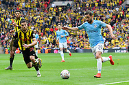 Bernardo Silva (20) of Manchester City on the attack  during the The FA Cup Final match between Manchester City and Watford at Wembley Stadium, London, England on 18 May 2019.