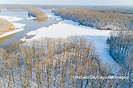 63877-01312 Aerial view after snowfall in winter Stephen A. Forbes St. Park Marion Co. IL