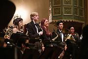 SCU Presents Wind Ensemble performs Tapestry at Mission Santa Clara de Asís at Santa Clara University in Santa Clara, California, on May 23, 2019. (Stan Olszewski/SOSKIphoto)