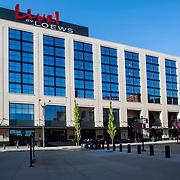 Loews Hotel at Downtown St. Louis Missouri Ballpark Village, across the street from Busch Stadium, home of the St. Louis Cardinals.
