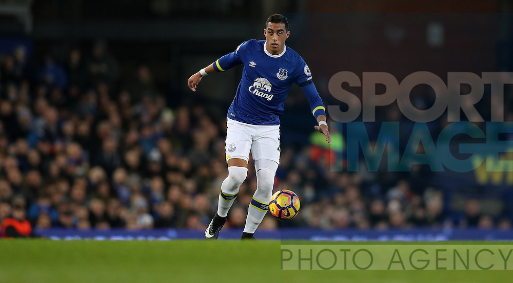 Ramiro Funes Mori of Everton during the Premier League match at Goodison Park, Liverpool. Picture date: December 4th, 2016.Photo credit should read: Lynne Cameron/Sportimage