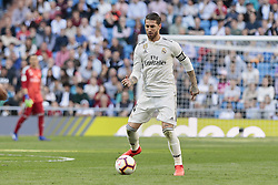 March 16, 2019 - Madrid, Madrid, Spain - Real Madrid's Sergio Ramos seen in action during La Liga match between Real Madrid and Real Club Celta de Vigo at Santiago Bernabeu Stadium in Madrid, Spain. (Credit Image: © Legan P. Mace/SOPA Images via ZUMA Wire)