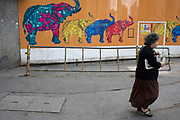 Elephant and Castle in London, UK. The area is now subject to a master-planned redevelopment budgeted at £1.5 billion. A Development Framework was approved by Southwark Council in 2004. It covers 170 acres and envisages restoring the Elephant to the role of major urban hub for inner South London.