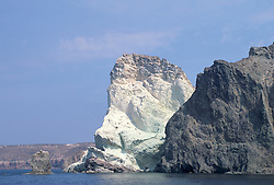 Beautiful rock formation in Santorini, Greece