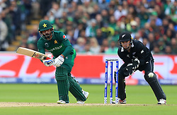 Pakistan's Mohammad Hafeez during the ICC Cricket World Cup group stage match at Edgbaston, Birmingham.