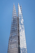 """Tip of the shard with visitors on """"The View from the Shard"""" visible. May 2015, London. Architect: Renzo Piano. Engineer: WSP Global"""