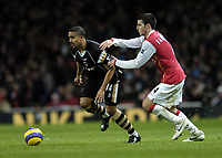 Photo: Olly Greenwood.<br />Arsenal v Charlton Athletic. The Barclays Premiership. 02/01/2007. Charlton's Jerome Thomas goes past Arsenal's Francesc Fabregas