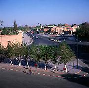 Avenue Mohammed V, Place de la Liberte, Marrakech, Morocco