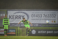 Forest Green Rovers Midfielder, Liam Noble (15) with a shot at goal from a free kick during the FA Trophy match between Forest Green Rovers and Truro City at the New Lawn, Forest Green, United Kingdom on 10 December 2016. Photo by Adam Rivers.