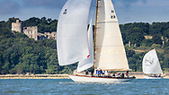 Dr Andrew Pearson's Bojar competing in Cowes during the Panerai British Classic Sailing Week regatta. <br /> Picture date: Monday July 10, 2017.<br /> Photograph by Christopher Ison ©<br /> 07544044177<br /> chris@christopherison.com<br /> www.christopherison.com