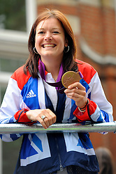 Team GB medal winners during a parade in central London celebrating Team GB athletes who competed in the London 2012 Olympic and Paralympic Games, September 10th 2012. Photo by Chris Joseph/i-Images.
