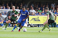 AFC Wimbledon midfielder Liam Trotter (14) dribbling during the EFL Sky Bet League 1 match between AFC Wimbledon and Doncaster Rovers at the Cherry Red Records Stadium, Kingston, England on 26 August 2017. Photo by Matthew Redman.