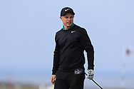 Conor Purcell (Portmarnock) on the 1st tee during Round 4 of The West of Ireland Open Championship in Co. Sligo Golf Club, Rosses Point, Sligo on Sunday 7th April 2019.<br /> Picture:  Thos Caffrey / www.golffile.ie