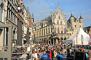 Mechelen is a city and municipality in the province of Antwerp, Flanders, Belgium.<br /> <br /> On the Photo:   Stadhuis Mechelen / City Hall of Mechen on the great square